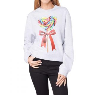 Love Moschino White Lollipop-Print Sweatshirt