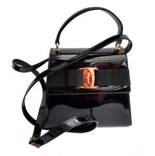 Salvatore Ferragamo Vara Vintage Patent Leather Bag