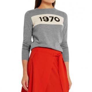 Bella Freud 1970-Intarsia Wool Sweater