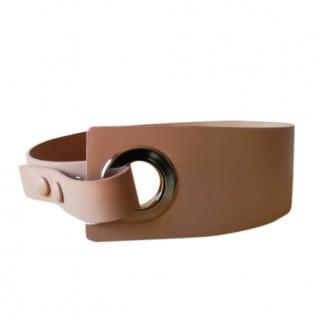 Sportmax nude leather belt