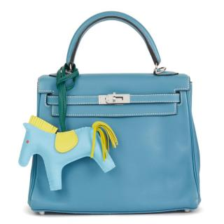 Hermes Blue Jean Swift Leather Kelly 25cm Bag