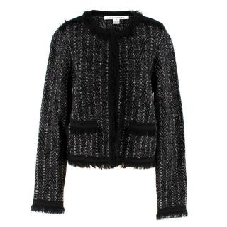 Diane von Furstenberg Sheila Metallic-Tweed Jacket