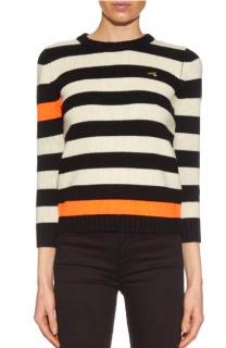 Bella Freud Cortina Striped-Intarsia Sweater