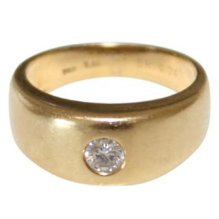 Bespoke 0.24 Carat 18ct Gold Chunky Band ring
