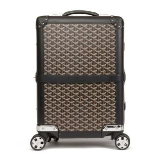 Goyard Bourget PM Coated Canvas Chevron Suit Case