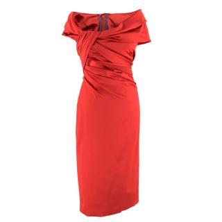 Talbot Runhof off-the-shoulder duchess-satin dress