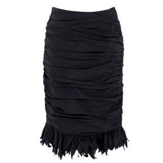 Georges Rech Black Rouge Taffeta Pencil Skirt