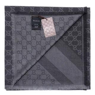 Gucci Wool & Silk Guccissima Scarf