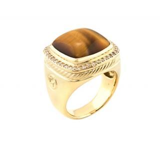 David Yurman Diamond & 18K Gold Albion Ring