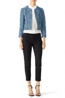 Diane von Furstenberg Blue Rylan Jacket
