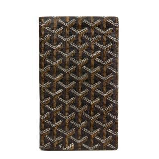 Goyard Black Chevron Large Bi-Fold Wallet