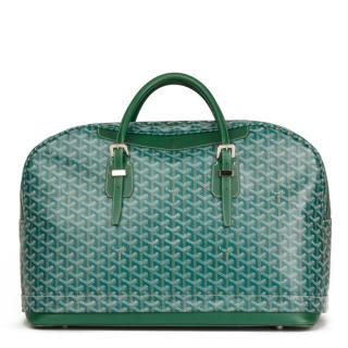 Goyard Hotel Du Parc Green Chevron Expandable Bag