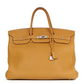 Hermes Natural Fjord Leather Birkin 40cm Bag
