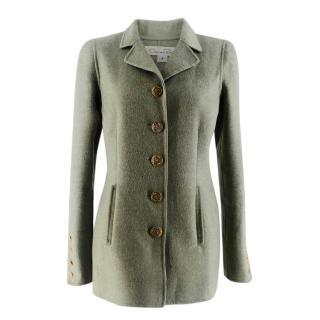 Oscar De La Renta Mint Double-Faced Cashmere Coat