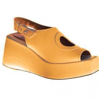 Sportmax Runway Mustard platform sandals