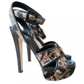 Sergio Rossi leopard-print calf hair sandals