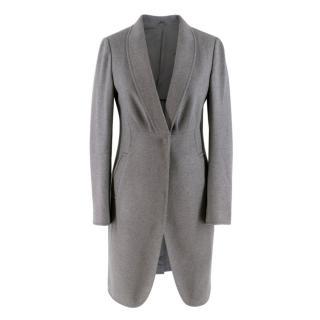 Brunello Cucinelli Grey Wool blend Long Coat