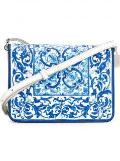 Dolce & Gabbana Majolica blue cross-body bag