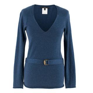 Gucci Blue Cashmere-blend Jumper