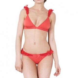 More Noir Red Hot Chilli Red Silky Wings Classic Bikini