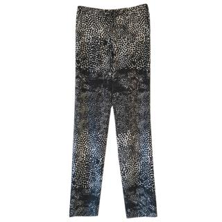 Gerard Darel geometric-print straight-leg trousers