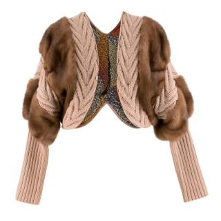 Missoni Fur-trimmed Bolero Jacket
