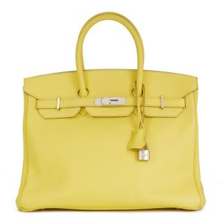 Hermes Birkin 35cms Soufre Epsom Leather