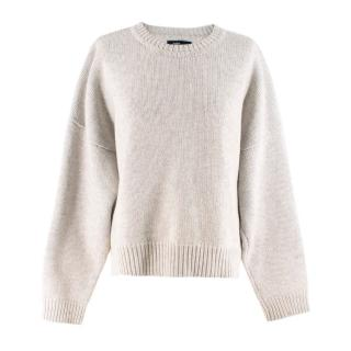 Bassike Grey Wool Knit Sweater