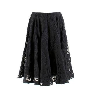 Scanlan Theodore Black Fil Coupe Skirt