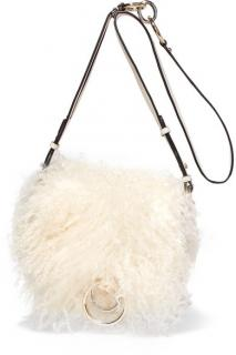 Diane von Furstenberg Love Power Shearling Saddle Bag