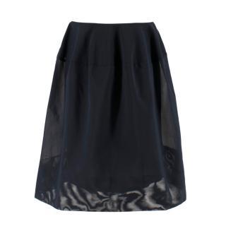Scanlan Theodore Navy A-line Skirt