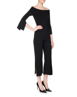 Roland Mouret Felbridge Off-The-Shoulder Black Jumpsuit