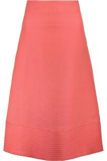 Roksanda Overton wool and silk-blend A-line pink skirt