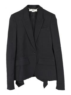 Stella McCartney black wool tail blazer