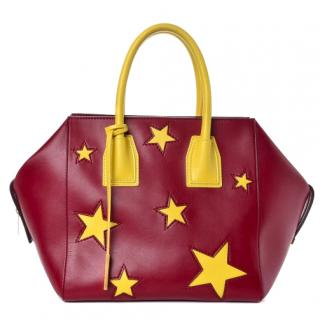 Stella McCartney Faux-Leather Star Embossed Tote Bag