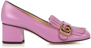 Gucci Marmont Fringed Leather Pink Loafers