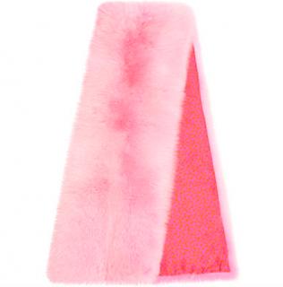 Bespoke Pink Arctic Fox Fur Stole