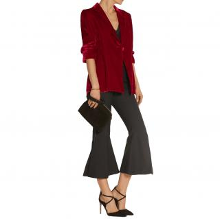 Ellery Evil Eye Red Velvet Blazer