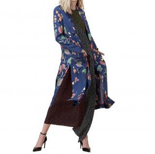 Diane von Furstenberg Floral Printed Midi Jacket