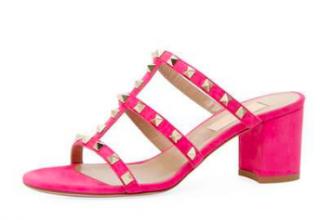 Valentino Rockstud suede mule sandals