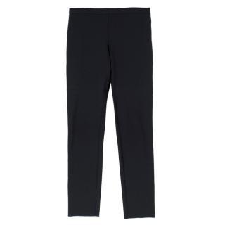Jil Sander Black Stretch Wool Jersey Trousers