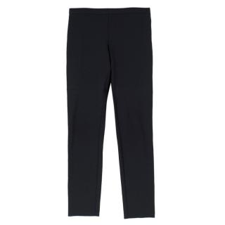 Jil Sander Black Stretch Wool Jersey Trousers