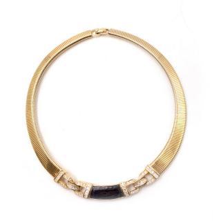 Christian Dior Vintage Gold toned Embellished Choker