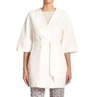 MaxMara white belted kimono jacket
