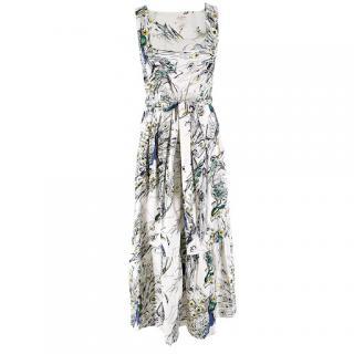 Leona Edmiston Peacock Print Midi Dress