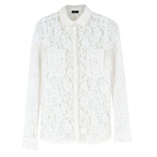 Joseph White Lace Shirt