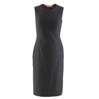 Jil Sander Contrast Panel Grey Cashmere Dress