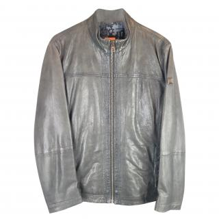 Hugo Boss Jips 5 Leather Biker Jacket