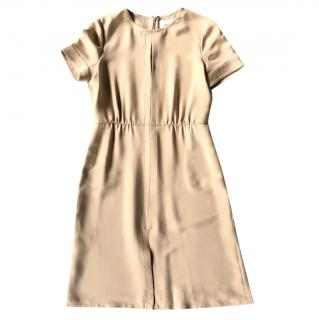 VALENTINO classic crepe dress with short sleeves