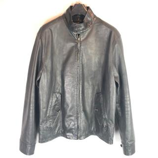 Polo Ralph Lauren Leather Harrington Jacket